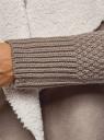 Кардиган вязаный с полами из искусственного меха oodji #SECTION_NAME# (коричневый), 73205182-1/31328/3700N - вид 5