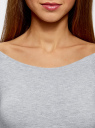 Платье с вырезом-лодочкой (комплект из 2 штук) oodji #SECTION_NAME# (серый), 14017001T2/47420/2000M - вид 4