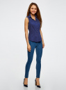 Рубашка базовая без рукавов oodji #SECTION_NAME# (синий), 11405063-6/45510/7500N - вид 6