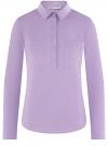 Рубашка базовая с нагрудными карманами oodji #SECTION_NAME# (фиолетовый), 11403222B/42468/8000N