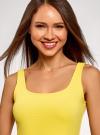 Платье-майка трикотажное облегающее oodji #SECTION_NAME# (желтый), 14001210/48152/5700N - вид 4
