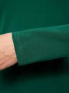 Платье трикотажное облегающего силуэта oodji для женщины (зеленый), 14001183B/46148/6E00N - вид 5