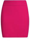 Юбка короткая базовая oodji #SECTION_NAME# (розовый), 11600399-1B/14917/4700N