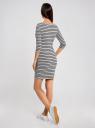 Платье трикотажное с декором из пайеток oodji для женщины (серый), 14001071-3/46148/2392P