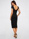 Платье миди (комплект из 2 штук) oodji #SECTION_NAME# (черный), 24001104T2/47420/2900N - вид 3