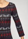 Платье трикотажное с вырезом-капелькой на спине oodji #SECTION_NAME# (черный), 24001070-5/15640/2945E - вид 5
