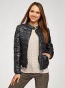Куртка стеганая с воротником-стойкой oodji для женщины (черный), 10203060B/43363/2900N