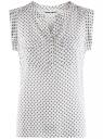 Блузка с короткими рукавами и нагрудными карманами oodji #SECTION_NAME# (белый), 21412132-2B/24681/1229G