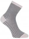Носки базовые хлопковые oodji для женщины (розовый), 57102466B/47469/4025S