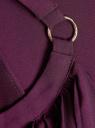 Платье макси с завязками на талии oodji для женщины (фиолетовый), 11911009/42629/8800N