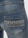 Джинсы skinny oodji для женщины (синий), 12103113/33636/7500W