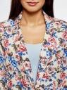 Жакет без застежки с накладными карманами oodji #SECTION_NAME# (разноцветный), 21204047/42526/1270F - вид 4