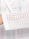 Кардиган ажурный с капюшоном oodji #SECTION_NAME# (белый), 63207205/18369/1000N - вид 5