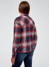 Рубашка в клетку с нагрудным карманом oodji #SECTION_NAME# (синий), 13L11013-1/48490/7912C - вид 3
