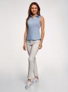 Рубашка базовая без рукавов oodji #SECTION_NAME# (синий), 14905001-1B/12836/7001N - вид 6