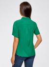 Блузка вискозная с короткими рукавами oodji #SECTION_NAME# (зеленый), 11411137B/14897/6E02N - вид 3