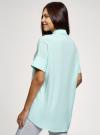 Блузка вискозная с завязками на воротнике oodji #SECTION_NAME# (зеленый), 11405143/48458/6529B - вид 3