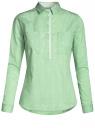 Рубашка приталенная с нагрудными карманами oodji для женщины (зеленый), 11403222-4/46440/6510S