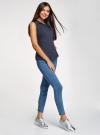 Рубашка базовая без рукавов oodji #SECTION_NAME# (синий), 11405063-4B/45510/7900N - вид 6