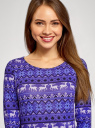 Платье трикотажное с вырезом-капелькой на спине oodji для женщины (фиолетовый), 24001070-5/15640/7512E