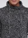 Свитер с объемным воротом на завязках oodji для мужчины (черный), 4L303015M/39797N/2923M