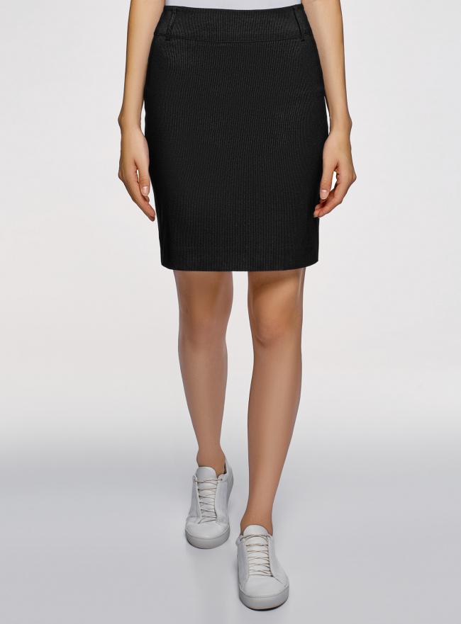 Юбка oodji для женщины (черный), 11610003-1/14347/2912S