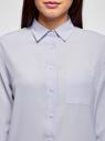 Блузка прямого силуэта с нагрудным карманом oodji #SECTION_NAME# (фиолетовый), 11411134-1B/48853/8001N - вид 4
