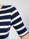 Платье прилегающего силуэта в рубчик oodji #SECTION_NAME# (синий), 14011012/45210/7910S - вид 5