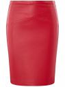 Юбка-карандаш из искусственной кожи oodji #SECTION_NAME# (красный), 18H01002B/45059/4C01N