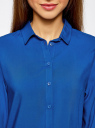 Блузка базовая из вискозы oodji #SECTION_NAME# (синий), 11411136B/26346/7501N - вид 4