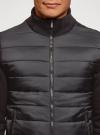 Куртка комбинированная с воротником-стойкой oodji #SECTION_NAME# (черный), 5L911039M/25278N/2900N - вид 4