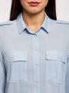 Блузка вискозная с нагрудными карманами oodji #SECTION_NAME# (синий), 11411127-1B/42807/7000N - вид 4