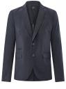Пиджак хлопковый с декором на лацканах oodji для мужчины (синий), 2L420187M/23322N/7900O