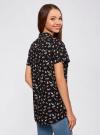 Блузка из вискозы с нагрудными карманами oodji #SECTION_NAME# (черный), 11400391-3B/24681/2912Q - вид 3