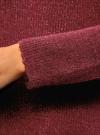 Свитер фактурный свободного силуэта oodji #SECTION_NAME# (красный), 64407145/45921/4923M - вид 5