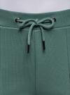 Брюки спортивные с надписью oodji для женщины (зеленый), 16701063/48881/6C29P - вид 4