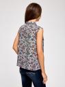 Топ базовый из струящейся ткани oodji для женщины (синий), 14911006B/43414/7043F