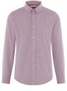 Рубашка приталенная из хлопка oodji #SECTION_NAME# (розовый), 3L110356M/44425N/1045G