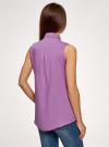 Топ вискозный с рубашечным воротником oodji #SECTION_NAME# (фиолетовый), 14911009B/26346/8002N - вид 3