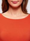 Платье трикотажное облегающего силуэта oodji для женщины (красный), 14001183B/46148/4500N - вид 4