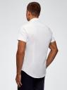 Рубашка базовая с коротким рукавом oodji #SECTION_NAME# (белый), 3B210007M/34246N/1000N - вид 3