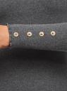 Водолазка в рубчик с пуговицами на рукавах oodji #SECTION_NAME# (серый), 15E11009-1/48037/2500M - вид 5