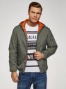 Куртка утепленная с капюшоном oodji #SECTION_NAME# (зеленый), 1L512022M/44334N/6600N - вид 2