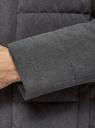 Куртка удлиненная с капюшоном oodji #SECTION_NAME# (серый), 1L113003M/49541N/2500M - вид 5