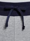 Брюки трикотажные на завязках oodji #SECTION_NAME# (серый), 16701055-1/47999/2000Z - вид 4