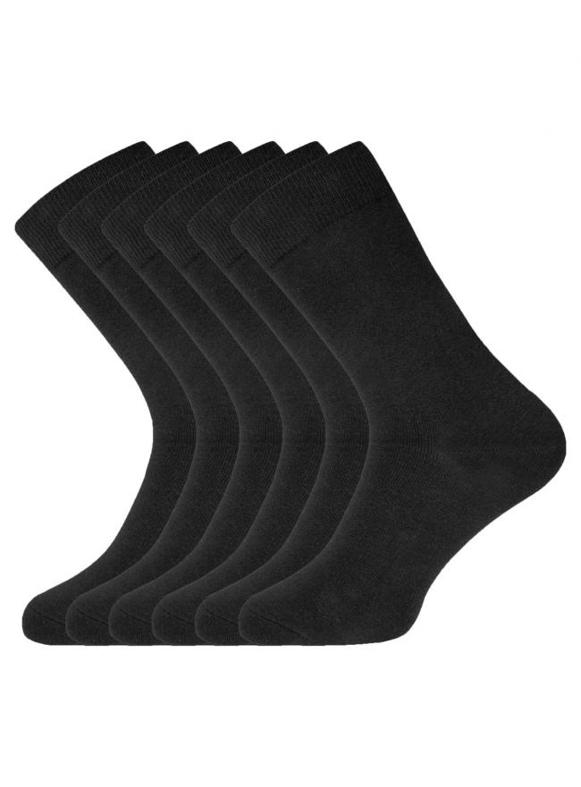 Комплект высоких носков (6 пар) oodji для мужчины (черный), 7B263001T6/47469/2900N