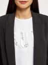 Жакет свободного силуэта без застежки oodji #SECTION_NAME# (черный), 11208023/42250/2900N - вид 4