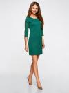 Платье трикотажное с рукавом 3/4 oodji для женщины (зеленый), 24001100-3/45284/6E00N - вид 6