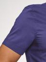 Рубашка базовая с коротким рукавом oodji #SECTION_NAME# (синий), 3B240000M/34146N/7801N - вид 5