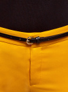 Брюки укороченные с ремнем oodji #SECTION_NAME# (желтый), 21701094/33574/5200N - вид 4